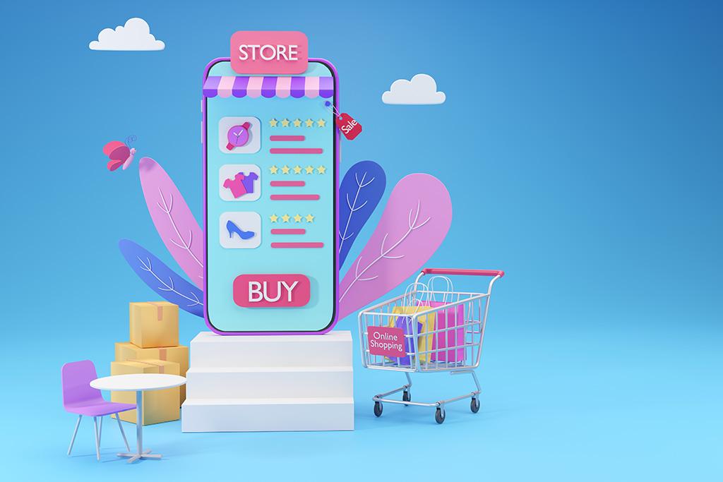 Symbolbild digitaler Marktplatz