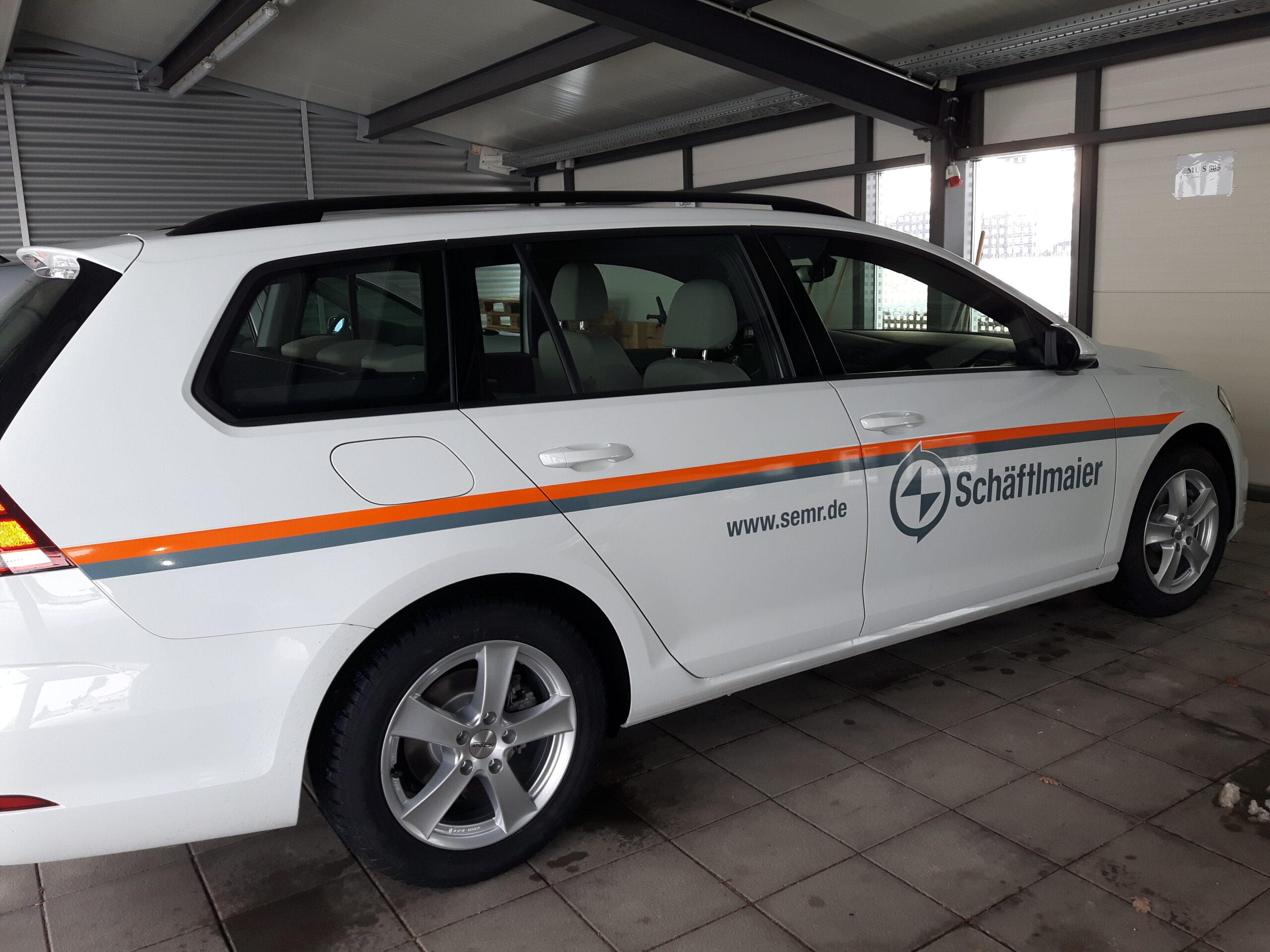 Fahrzeugwerbung für Schäftmaier